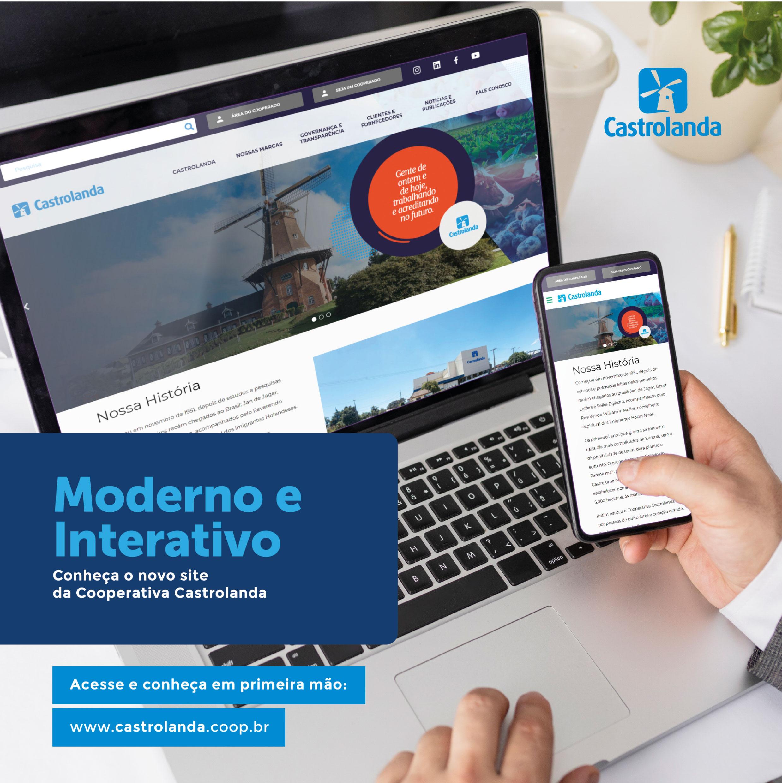Moderno e Interativo:  conheça o novo site da Cooperativa Castrolanda