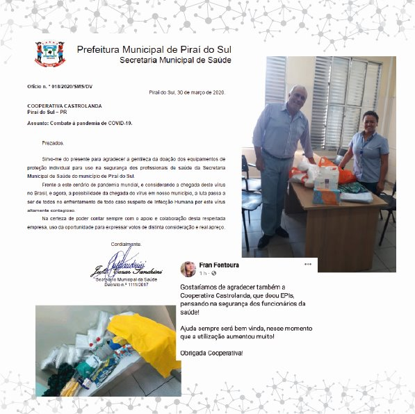 Castrolanda realiza doações para Secretarias de Saúde