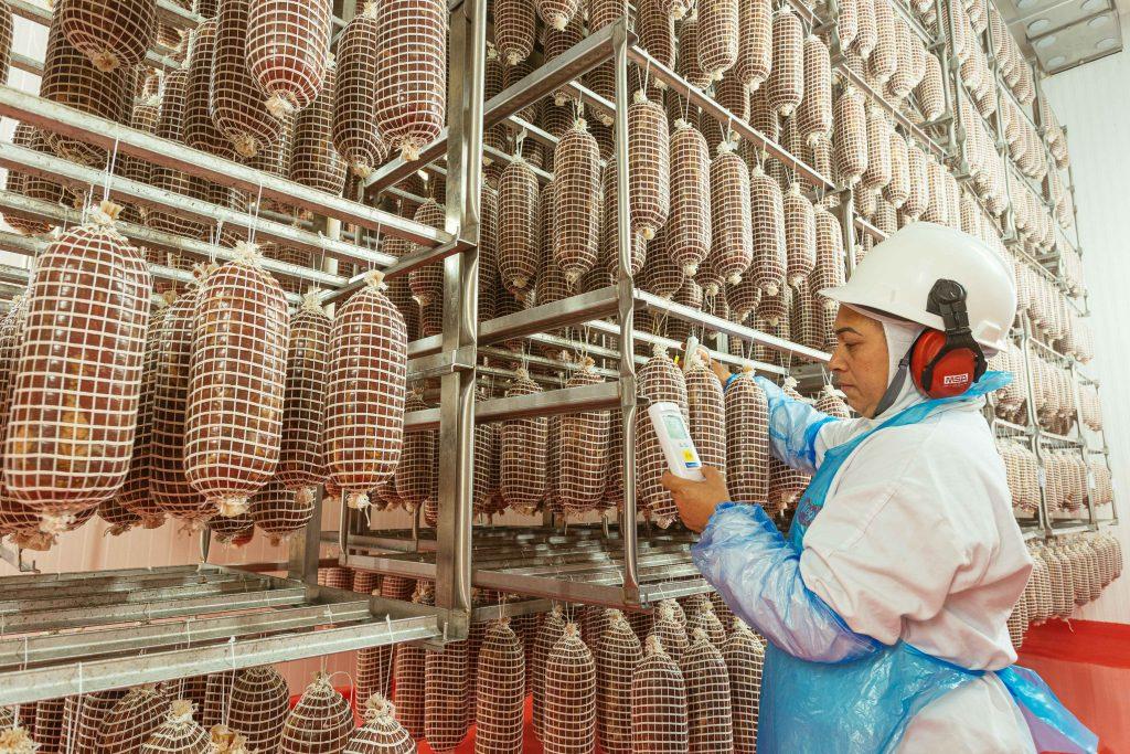 Carne de porco Mercado externo aquecido turbina exportações de indústria de suínos do estado